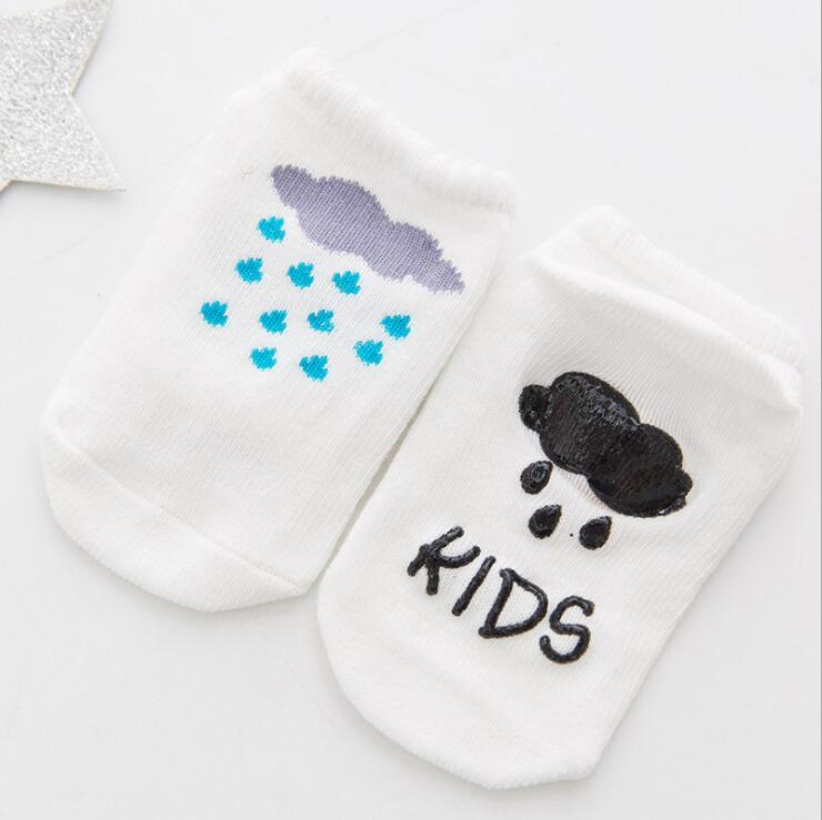 Lytwtw's Baby Floor Boy Girl Kids Children Smile Infant Cotton Anti Skid Slip Toddler Slipper Sock Striped Newborn Cheap Stuff