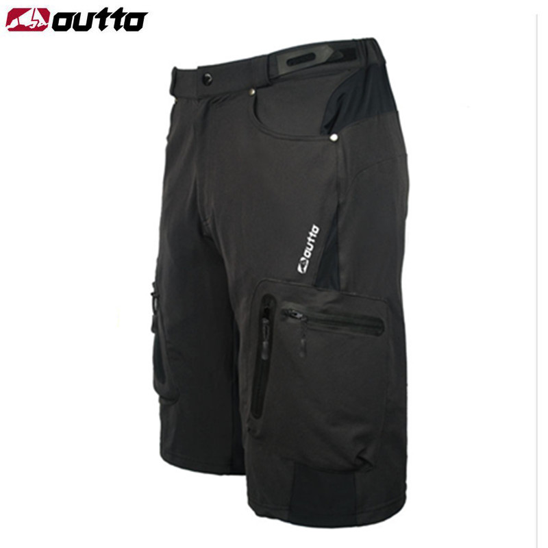цена на OUTTO Men's Cycling Shorts MTB Mountain Bike Ropa Breathable Loose Fit For Outdoor Sports Running Bicycle Riding Shorts