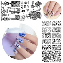 1pc Nail Stamping Plates 3D Halloween Style Image Art Manicure Templates Gel Polish Template Stencil Yicai1