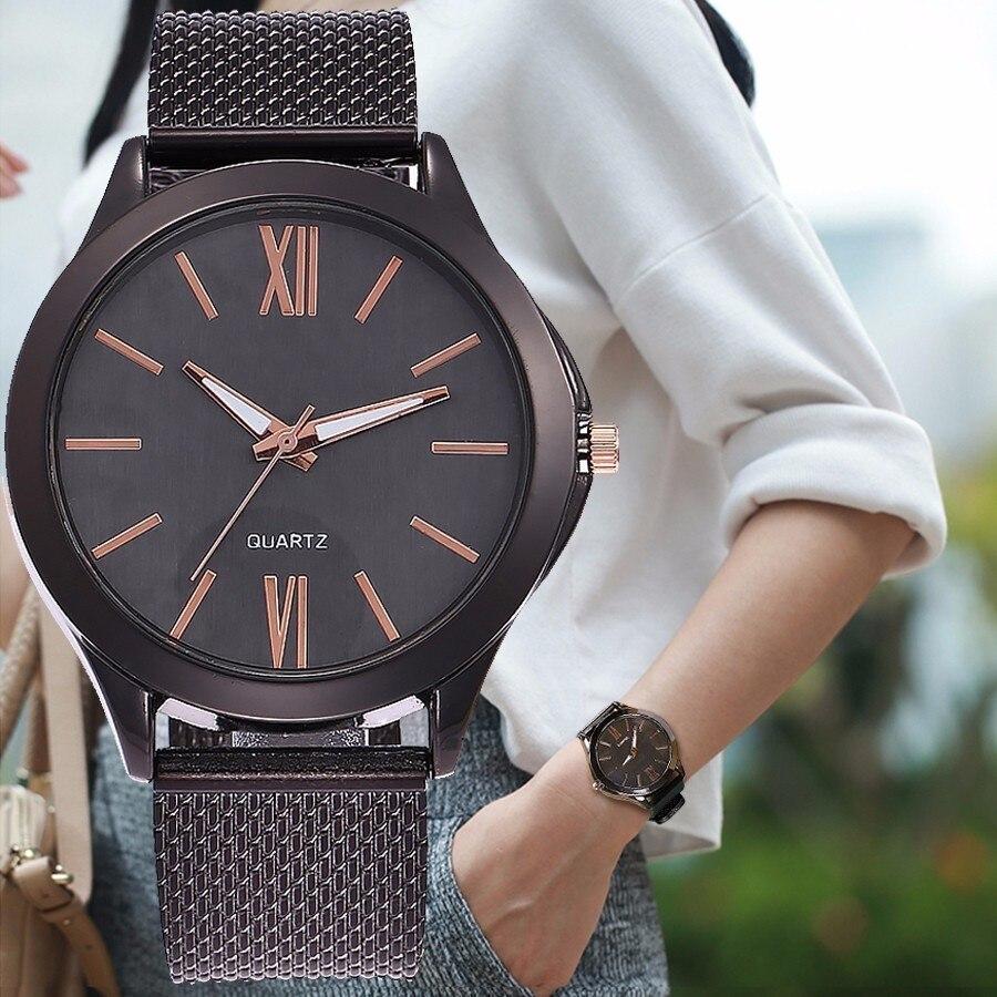 Women Casual Fashion Roma Dial Simple Wristwatches Ladies Dress Watch Luxury Quartz Watch Clock Gift Relogio Faminino Hot Sale