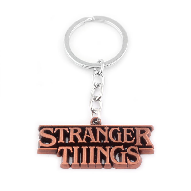SC Horror TV Series Stranger Things Letter Logo Keychains 3 colors letter pendant Car Key Chain For Men Jewelry Souvenir gift in Key Chains from Jewelry Accessories