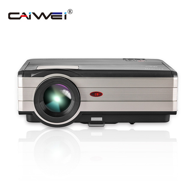 LED LCD Home Cinema Projector Mobile Full HD Proyector 4000 Lumens Projeksiyon Display For TV Smartphone Laptop iPhone iPad