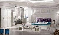 2018 Специальное предложение деревянный современный Muebles де Мадера барокко мебель Fashional кровать с шкаф и комод