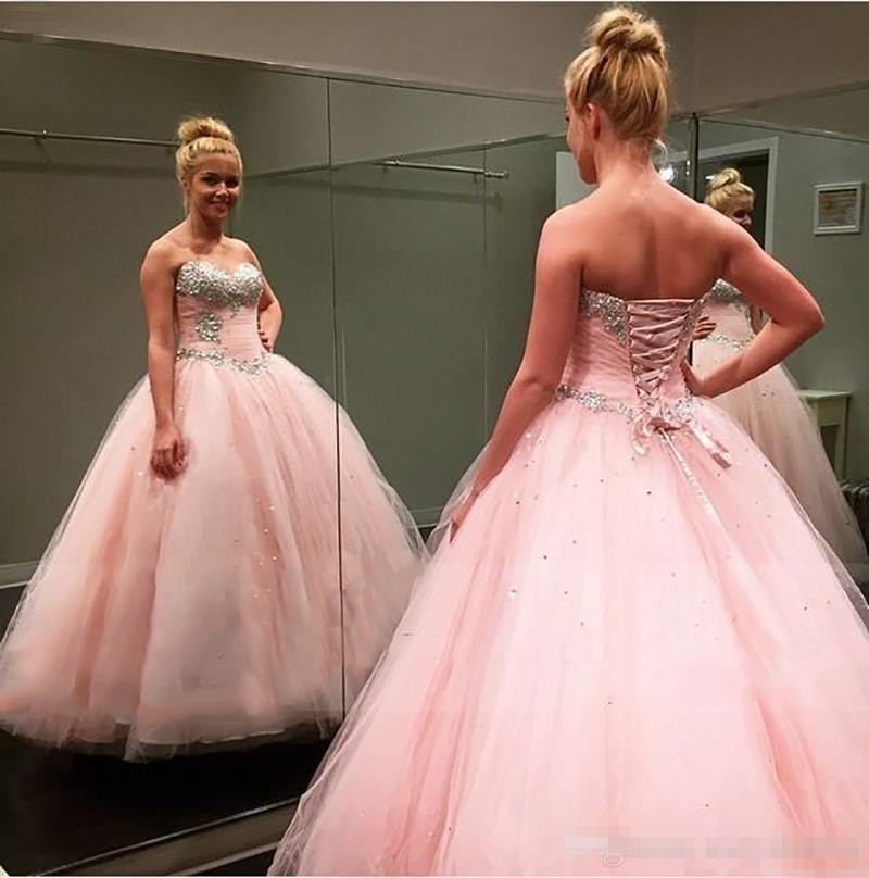 Cheap quinceanera dresses Sweet 16 dresses vestido 15 anos crystal quinceanera  dresses robe de bal 2017 debutante gown pink-in Quinceanera Dresses from ... 85230a96aa60
