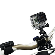 GoPro accessories Bike Motorcycle Handlebar Seatpost Pole Mount & 3 Way Adjustable Pivot Arm for Go pro Hero 2 3 3+ 4 xiaomi yi