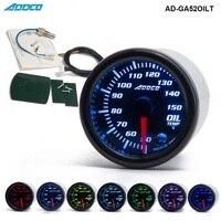 """Medidor de temperatura de aceite de carrera automático 2 """"52mm 7 colores LED con Sensor y soporte AD GA52OILT Medidores luminosos Automóviles y motocicletas -"""