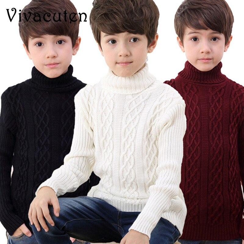 новые зимние модный свитер для мальчиков детские толстые вязаные дна