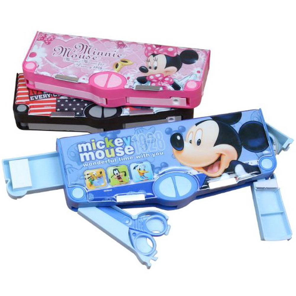220806/Multifunctional stationery / children pencil case primary school kindergarten boys and girls plastic cute pencil case m&g stationery set primary school pupil intelligence box multifunctional kindergarten teaching aid prize