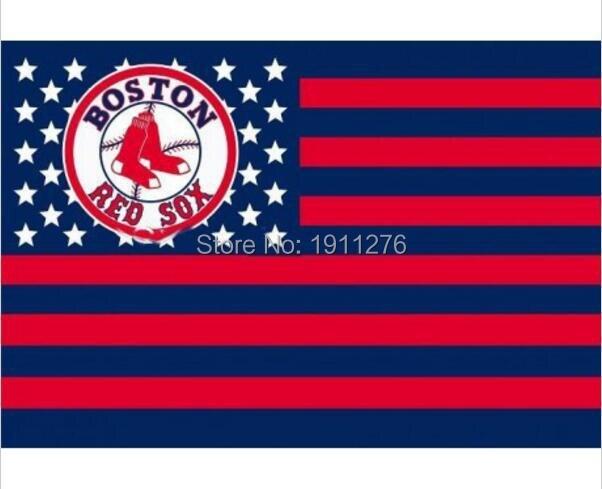 Boston Red Sox USA star stripe MLB Premium TeamBaseball Flag 3X5FT BRSSS01 home decoration Flying 144* 96cm Custom flag