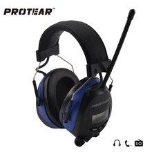 Protear NRR 25dB Elektroniczny Słuchu Protector radio AM Fm Zestawu Słuchawkowego Słuchu Nauszniki Nauszniki Elektroniczny Fotografowania Ochrony Słuchu