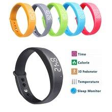 Новый смарт-браслет w5 смарт браслет шагомер sleep tracker термометр умный браслет фитнес-трекер smart watch
