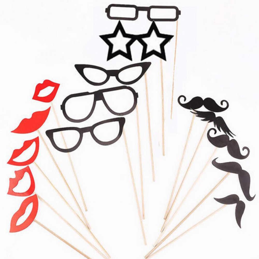 15PSC/LOT תמונה לתא Props משקפיים שפם חתונת מסיבת יום הולדת מסכת שפתיים על מקל עבור כיף טובות המפלגה אספקת HG0207