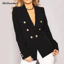 2018 Spring Autumn Women's Blazers New Fashion Jackets Suit European Style Single Button Slim Lapel Ladies Work Wear Blazers