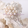 Free Shipping Pretty 5-6x6-7mm Oval Freshwater Pearl White  Silver Plaeted Bracelet 30x40mm / Pcs Adjustable Size