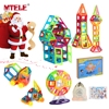 MTELE High Quality 40 60 100 110Pcs Mini Magnetic Designer DIY Building Blocks Construction Christmas Gifts
