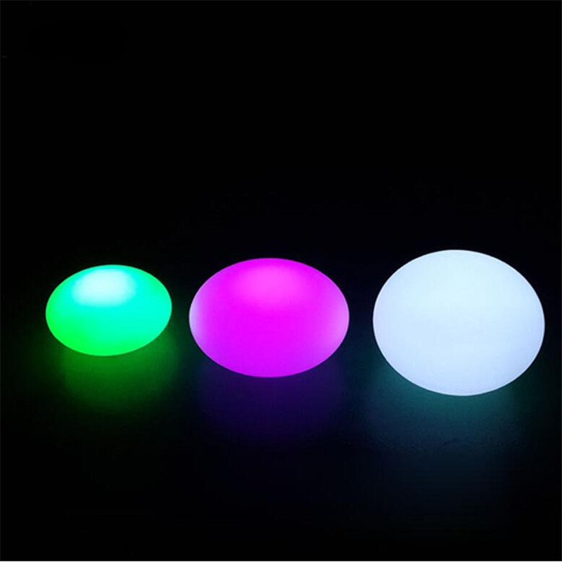 Creative Modern Waterproof Egg Stone ABS Led RGB Table Lamp for Bar Bedroom Living Room Camping Remote Control Night Light 1331 free shipping colorful led egg bar table lamp break resistant rechargeable led glow egg night light for christmas