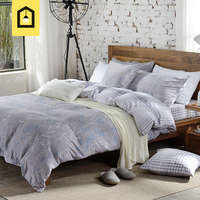 brand 100% cotton high quality bedding sets brief style duvet cover set without comforter sanding printed home bed 4 pieces set
