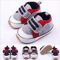 2015 moda zapatos de bebé únicos discos antideslizante bebés niños niñas primeros caminante para 0-12 meses de bebé