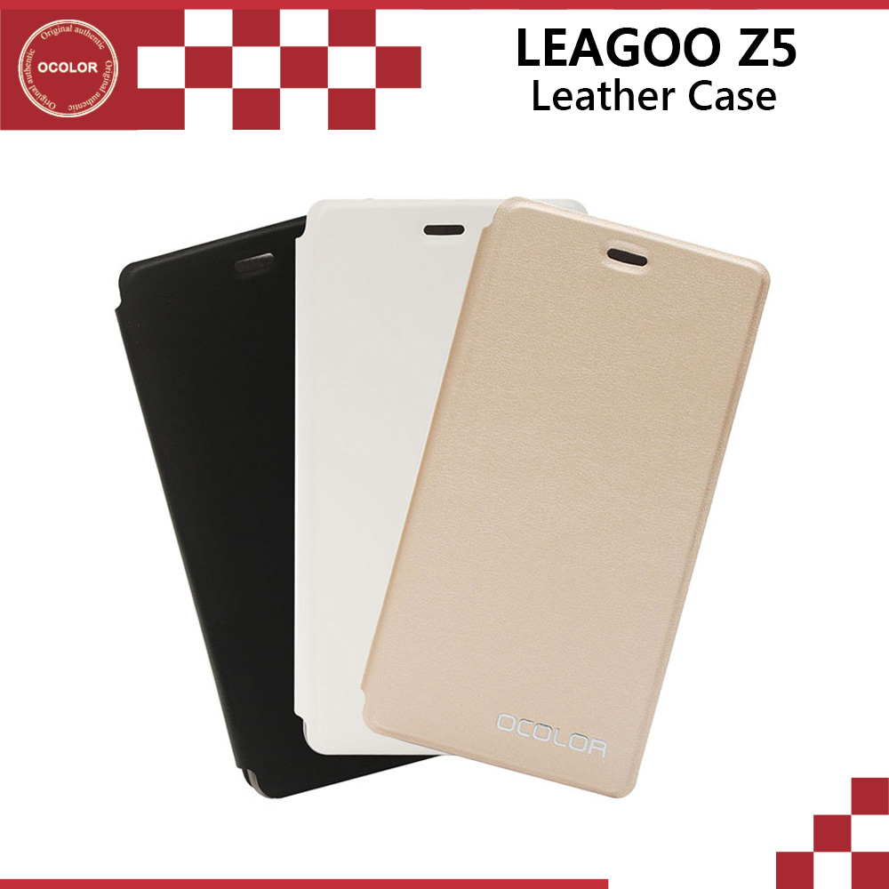 ocolor For Leagoo Z5 Flip UP Leather Case With Hard Case Mobilephone Skin Cover Replacement For Leagoo Z5 Cellphone
