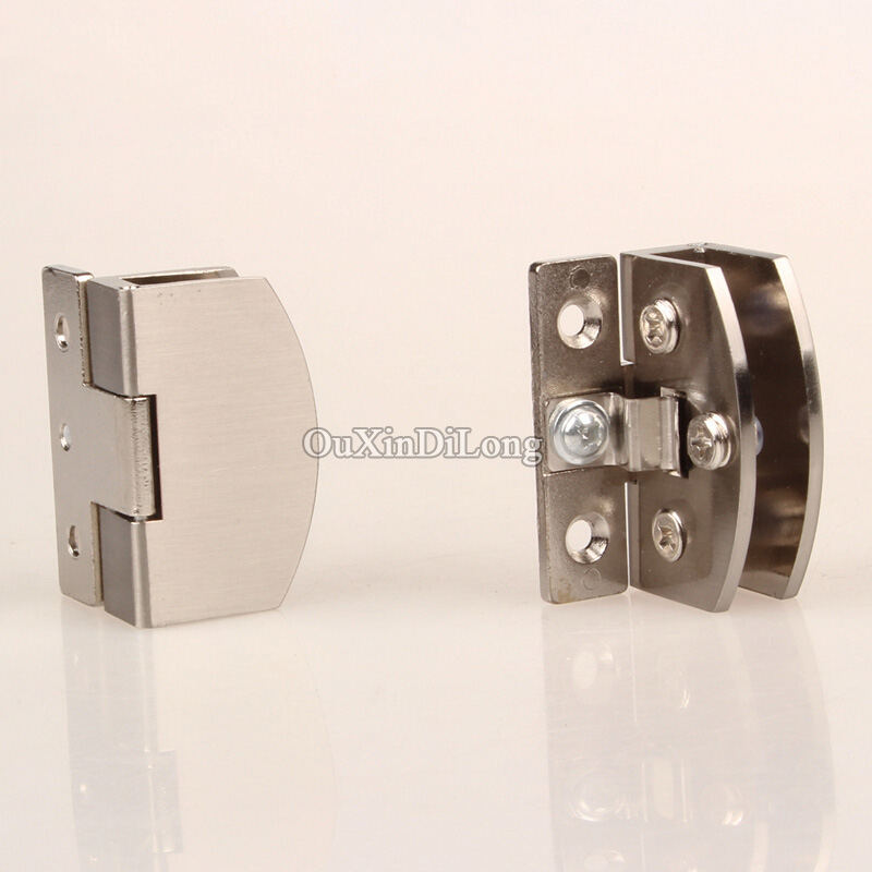 Hotsale 1pair2pcs Glass Cabinet Door Hinges Wine Cabinet Door