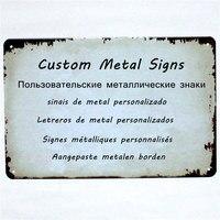 Пользовательские металлические знаки бляшки настроить персонализировать 20x30 см/15x30 см дропшиппинг