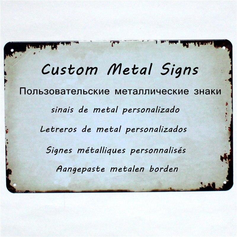 As placas feitas sob encomenda dos sinais do metal personalizam personalizam 20x30 cm/15x30 cm dropshipping