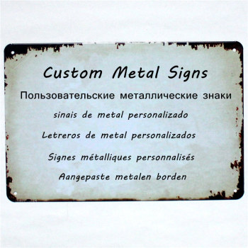 Custom Metal Signs Plaques Customize Personalise 20x30 CM / 15x30 CM Dropshipping