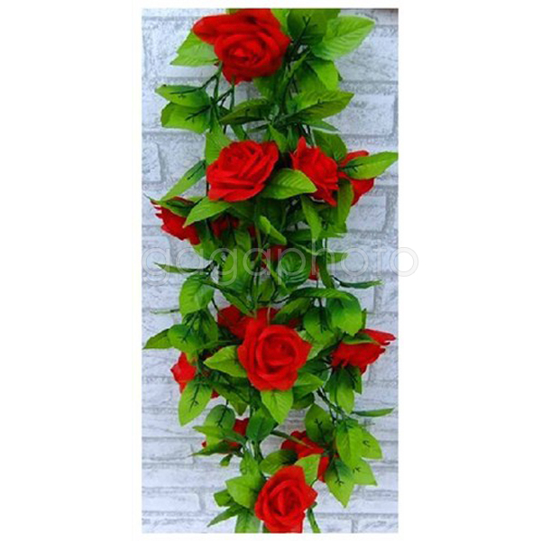 hot artificial ivy leaf plants vine fake flower rose red home party rh aliexpress com red rose home industries red rose homestay de cameron