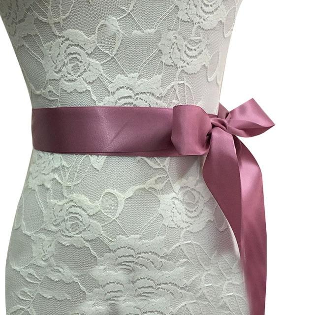 Fashion Rhinestones Applique Ribbon Wedding Sash Evening Dress Belt Handmade with Length RIbbon JL 5