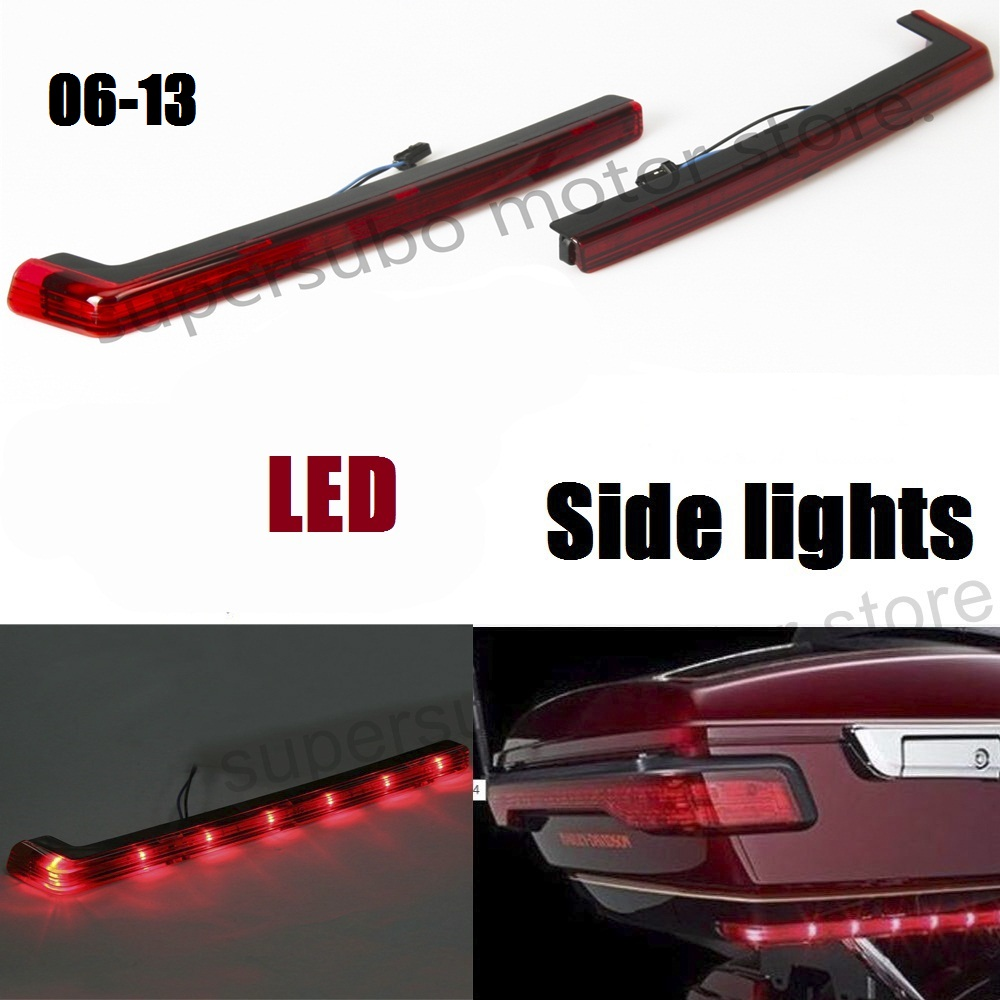 Tour pak red led side lights For Harley Touring street glide roadking Electra road glide 2006-2013 gps навигатор bushnell backtrack d tour red