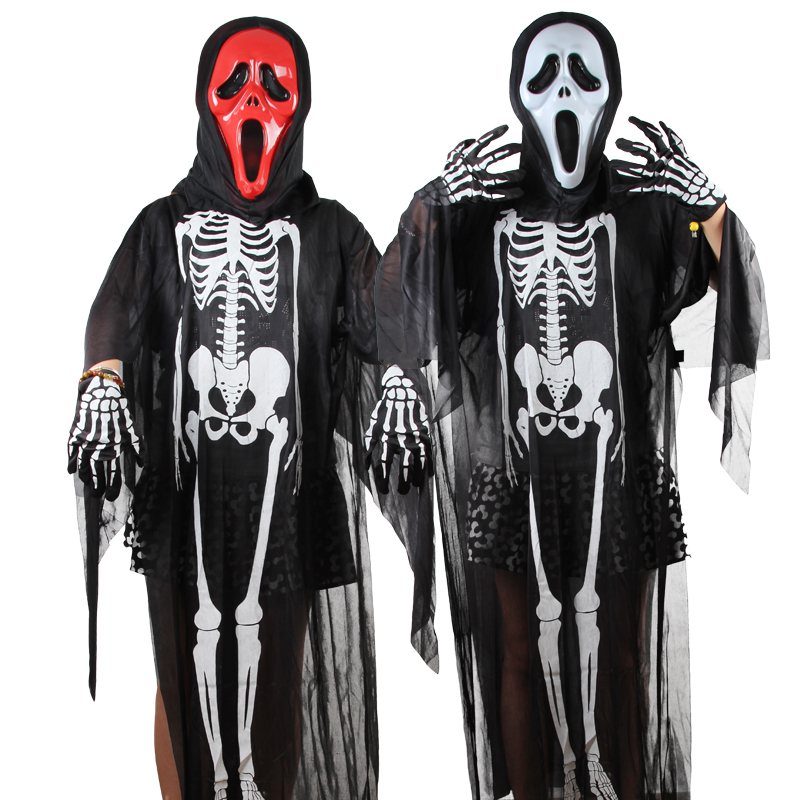 Skeleton Kids Halloween Costumes Dress Baby Costumes Clothing Whimsy Ghost Clothes Suits Skeleton Scream halloween costumes scary centipede ghost mask skeleton patterned coat set black white red