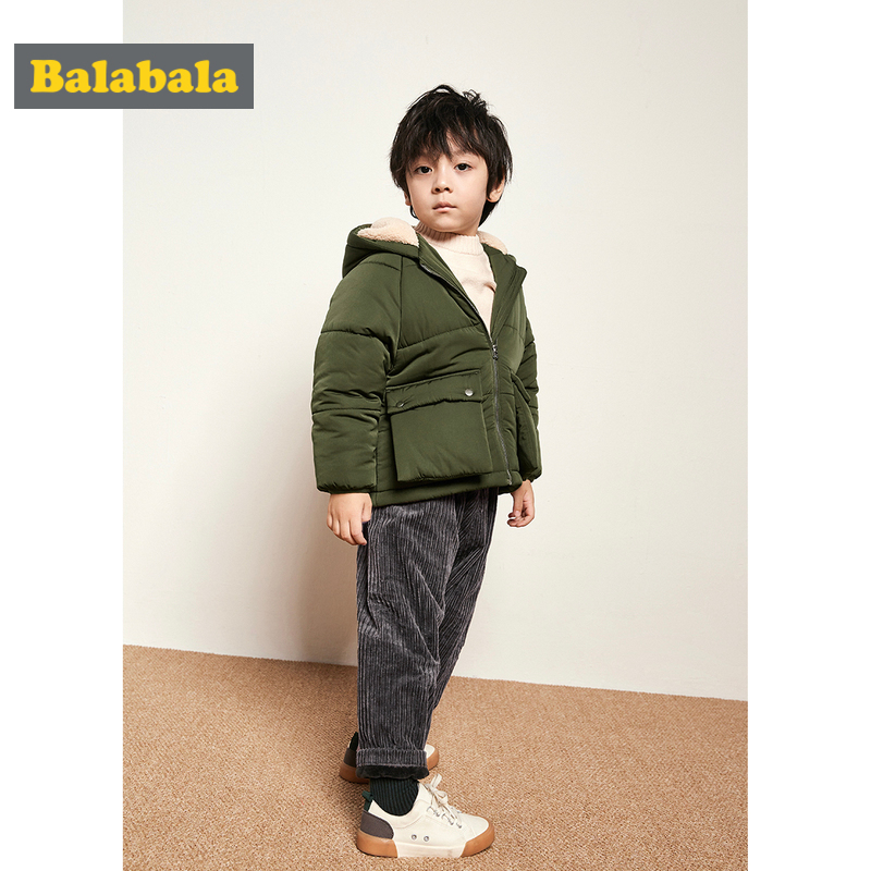 Balabala Toddler Boy Padded Jacket with Fleece-Lined Hood Kids Hooded Jacket with Pocket Full Zip Jacket with Elasticized Cuff Balabala Toddler Boy Padded Jacket with Fleece-Lined Hood Kids Hooded Jacket with Pocket Full Zip Jacket with Elasticized Cuff