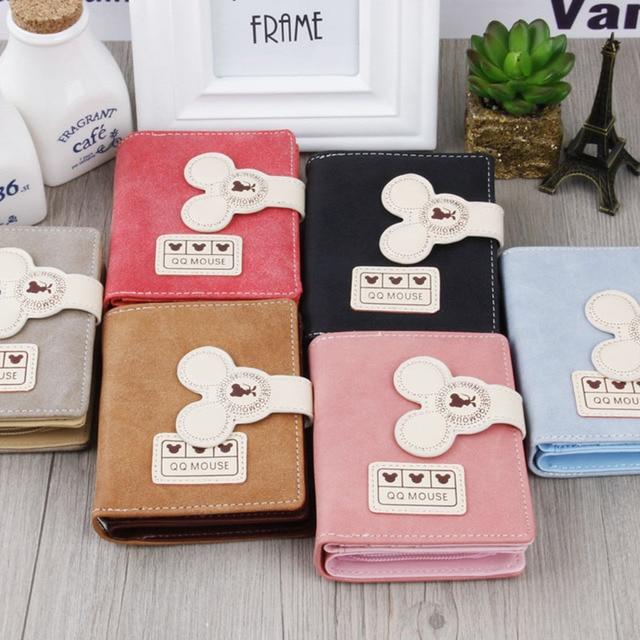 Women small wallet cartoon mickey cute coin purse hasp card holder womens wallet 1