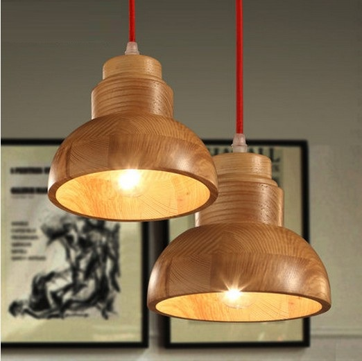 American Village Loft Wood Art Droplight Modern LED Pendant Light Fixtures For Dining Room Bar Hanging Lamp Indoor Lighting nordic loft style wood art droplight modern led pendant light fixtures for living dining room bar hanging lamp indoor lighting