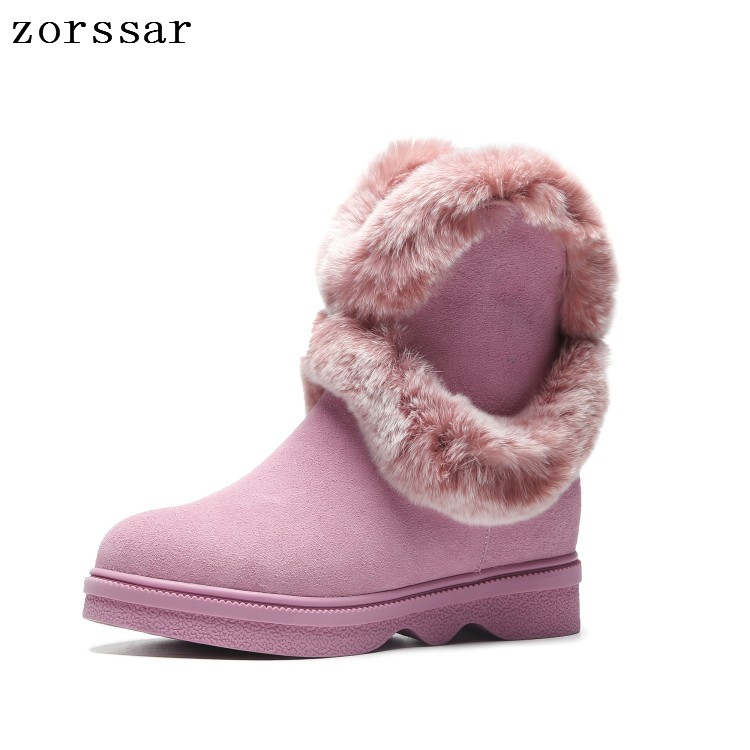 Zorssar 2018 suede women winter boots warm fur plush Woman Snow Boots Ankle Platform boots Fashion Ladies flat shoes FootwearZorssar 2018 suede women winter boots warm fur plush Woman Snow Boots Ankle Platform boots Fashion Ladies flat shoes Footwear