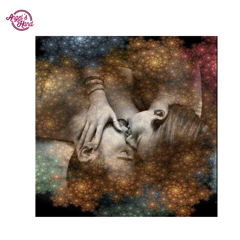 US $4.5 10% OFF|ANGEL\'S HAND twin flame quotes twin flame love DIY 5D  Diamond Mosaic Diamond Painting Cross Stitch Diamonds Embroidery Round  Dri-in ...