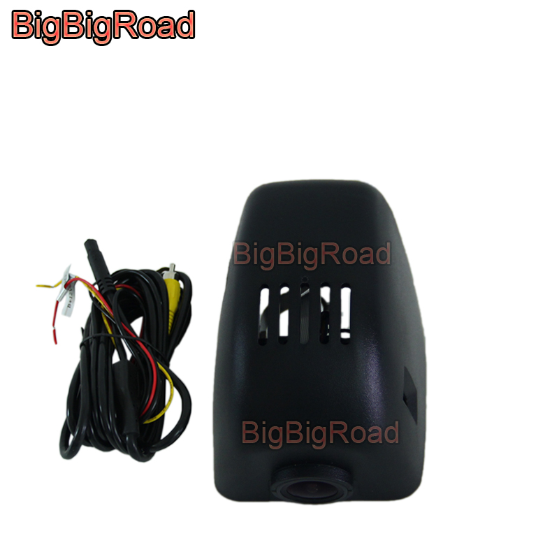 цена BigBigRoad For Audi A1 A3 A4L A5 A6L A7 A8 Q3 Q5 2013 2014 2015 2016 Car wifi DVR Video Recorder black box dash cam FHD 1080P