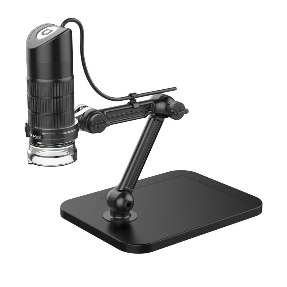 500X 800X 1000X USB HD Electronic Microscope Exposure Digital Microscope With 8 LED Light Magnifier Optical Video Camera цена