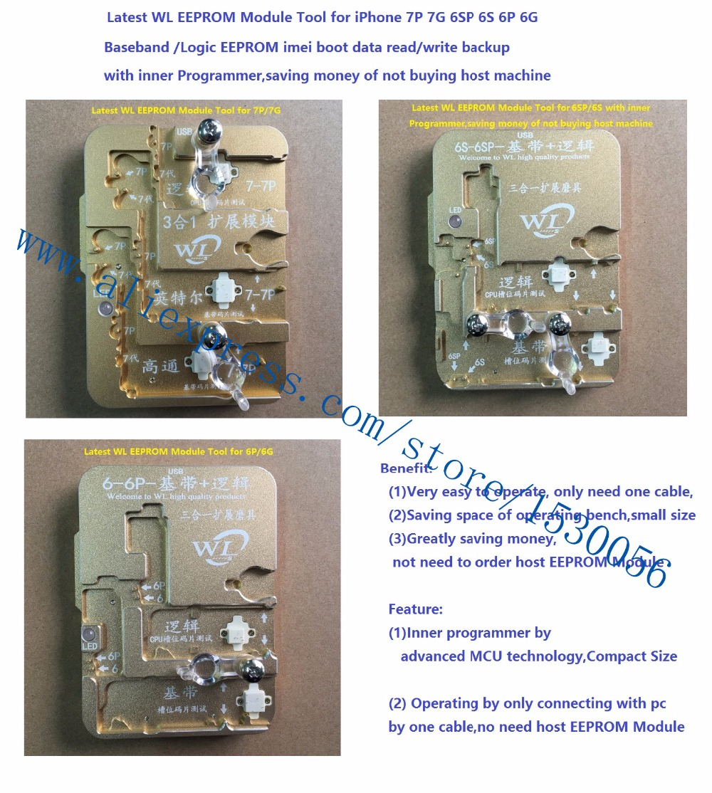 Updated Wl Eeprom Module Tool For Iphone 7p 7g 6sp 6s 6p 6g Baseband Board Holder Repair Qianli Latest Logic