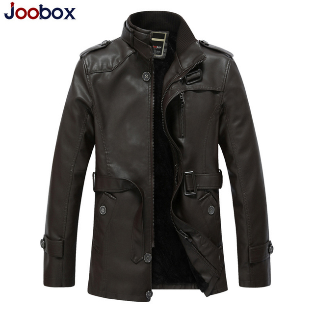 JOOBOX 2017 Men's Popular Handsome PU Leather Jacket Punk New Leather Jackets men winter Overcoat Jacket brand clothing (PY026)