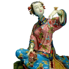 Chinese Lady Statue Marvel Collectible Antique Imitation Sculpture Arts Handmade Porcelain Figurine Ceramics for Christmas Sale цены