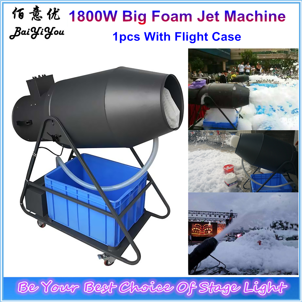 DJ Party Foam Spraying Cannon 1800W Super Big Foam Jet Machine Long Jet Distance Stage Large
