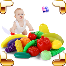 New Arrival Gift Baby Toys Fruit & Vegetable Cut Toys Kitchen Pretend Play Toys Children Classic Learning Toy IQ Education Game