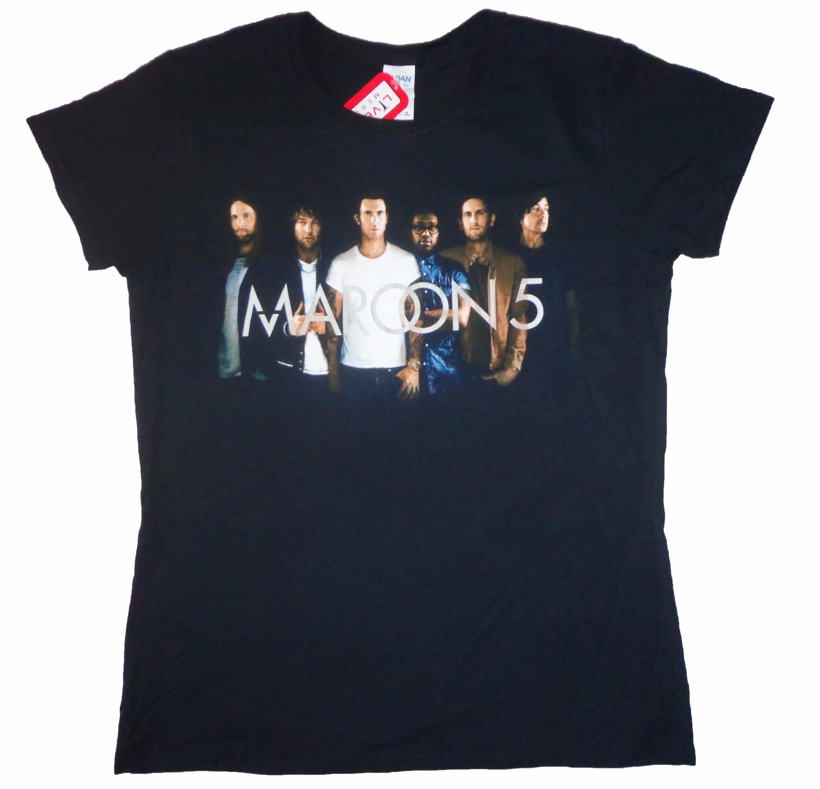 MAROON 5 - Group Logo - T SHIRT Top S-M-L-XL Brand New Official T Shirt Top