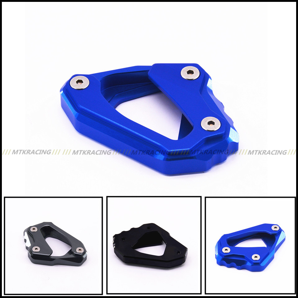 MTKRACING For Yamaha MT-10 FZ-10 2016 2017 Motorcycle Kickstand Foot Side Stand Extension Pad Support Plate  for yamaha mt09 mt 09 mt 09 2013 2015 2014 new motorcycle parts kickstand foot side stand enlarge extension pad support plate