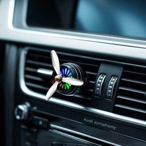 Image 2 - Nước Hoa ô tô Máy Khuếch Tán Lọc Không Khí Đèn LED Không Quân 3 Lỗ Thông Hơi Ổ Cắm Kẹp Ô Tô Trang Trí Cánh Quạt Hương Thơm Mùi Vật Trang Trí