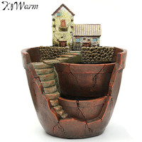 Kiwarm New Sky Garden Planter Herb Flower Cactus Succulent Plant Resin Pot Box Container Craft For