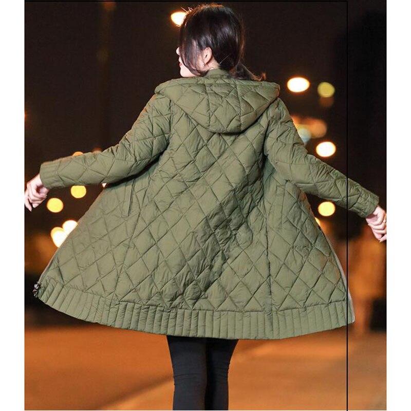 Winter Jacket Female   Parka   Coat Long hoodie Down Cotton Jacket Plus Size 3XL Long Hooded thick   Parkas   autumn Coat Jacket Women