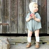 Baby Girl Clothes Long Sleeve Knitted Sweater Romper Toddler Bodysuit Tops Blue Orange Roupas Infantis Menina
