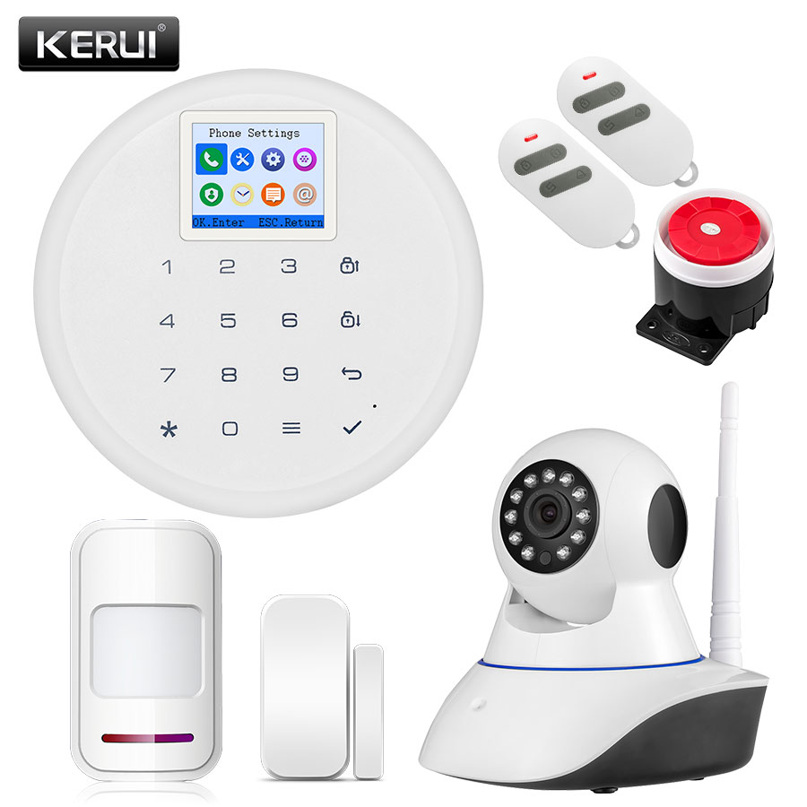 KERUI Newest G17 Wireless 1.7-inch TFT Screen Home Alarm Android IOS APP Control GSM Alarm Systems Security Home Alarma Suits strike systems поясная для m92 g17 18 sti cz steyr